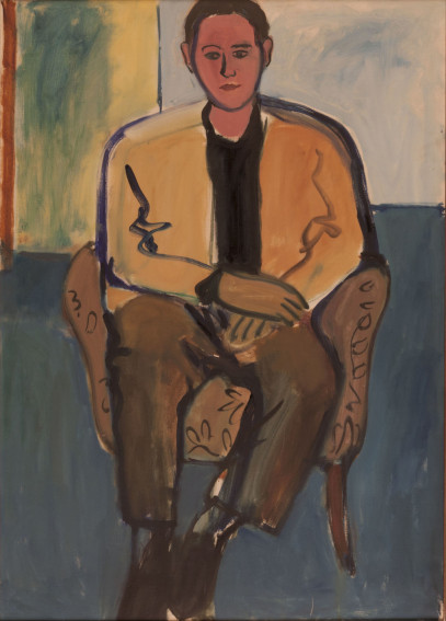 Robert De Niro Sr. Portrait of Young Man Seated painting