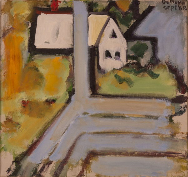 Robert De Niro Sr. White Building, Blue Porch painting