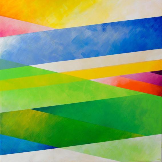 Kamal Boullata Angelus II-2 painting