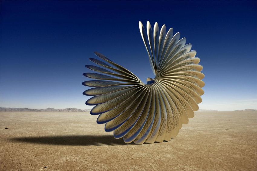 Ken Kelleher Circle Wing sculpture