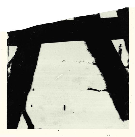 Pierre Soulages Goudron sur verre painting