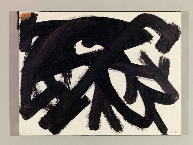 Pierre Soulages Walnut Stain painting