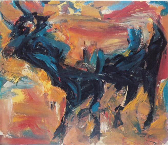Elaine de Kooning Sunday Afternoon painting
