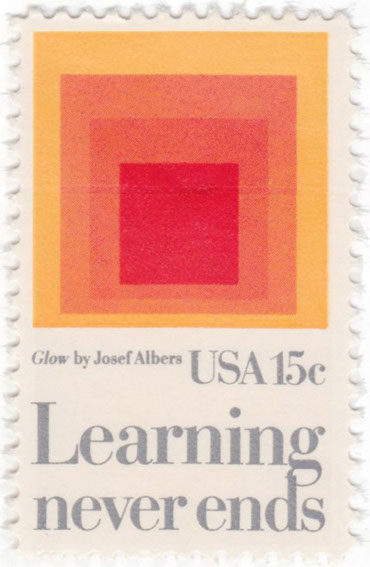 Glow (1966) by Josef Albers on US Stamp