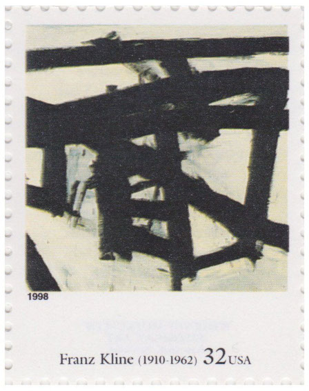 Mahoning (1956) by Franz Kline on US Stamp