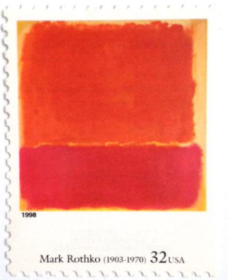 No. 12 (1951) by Mark Rothko on US Stamp