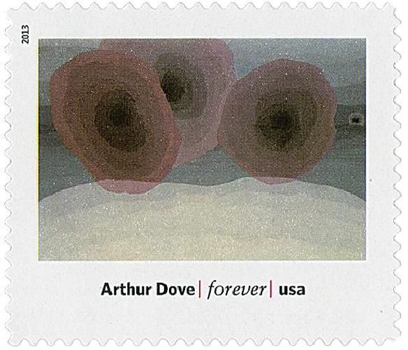 Fog Horns (1929) by Arthur Garfield Dove on US Stamp