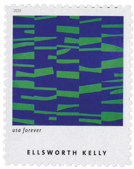 Meschers (1951) by Ellsworth Kelly on US Stamp