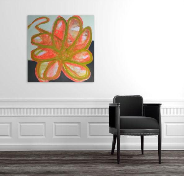 Brenda Zappitell Flower I painting installation view