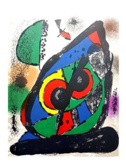 Joan Miro Original Abstract Lithograph from Lithographe IV contemporary work