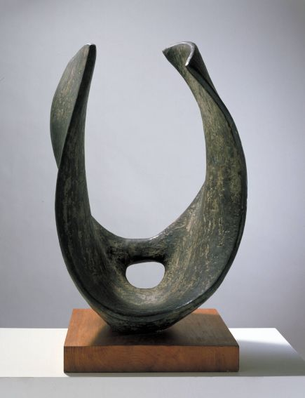 Barbara Hepworth Curved Form (Trevalgan) sculpture