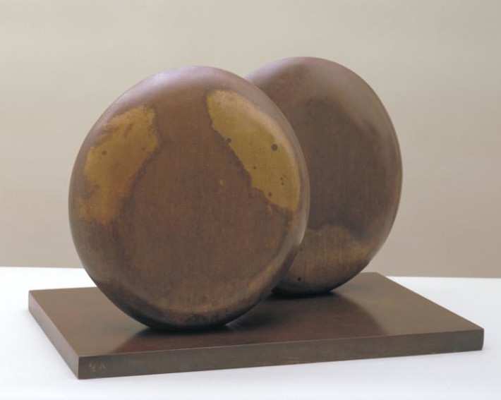 Barbara Hepworth Discs in Echelon sculpture
