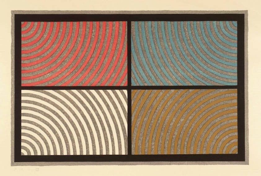 Sol LeWitt Arcs From Four Corners painting