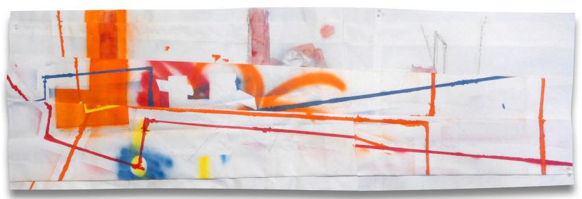 Peter Soriano L.I.C. (Orange) painting