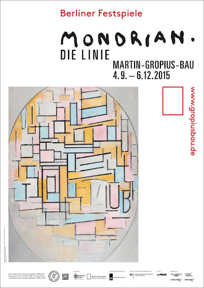 Exhibition poster Piet Mondrian - The Line