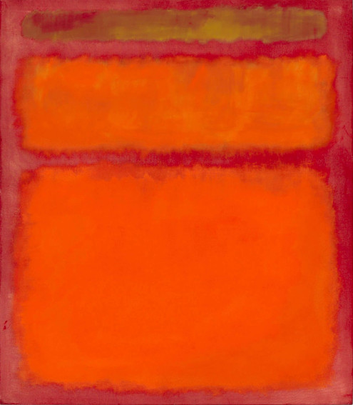 Mark Rothko Orange, Red, Yellow painting