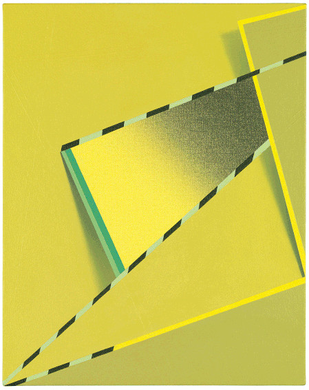 Tomma Abts Feke painting on view at Serpentine Galleries in New York