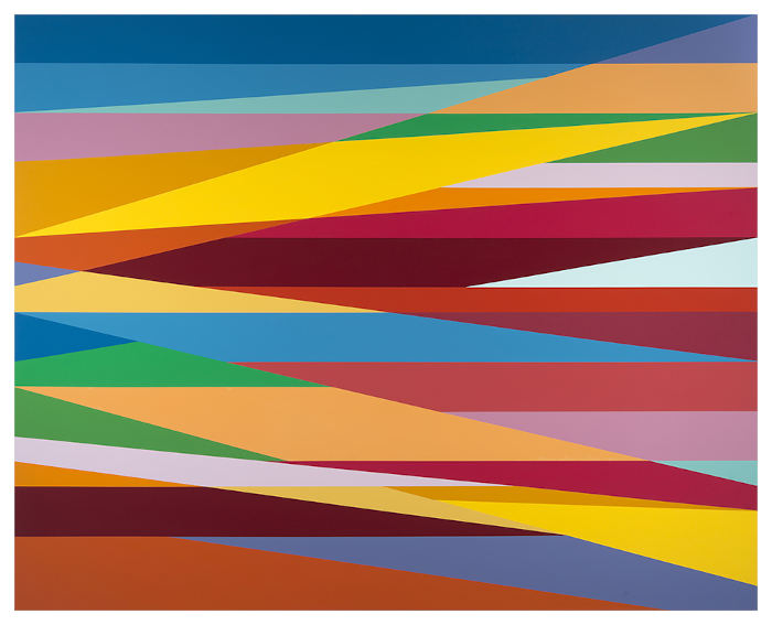 Odili Donald Odit Desert Sun painting on view in New York