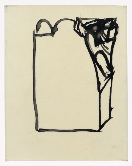 In Memory of My Feelings drawing by American painter Grace Hartigan Museum of Modern Art Collection