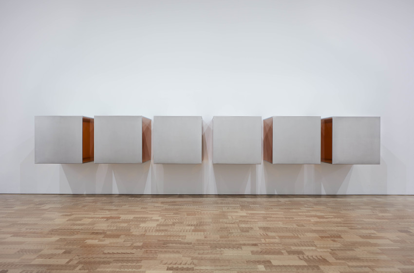 Retrospective of works by artist Donald Judd on view at MoMA in March 2020