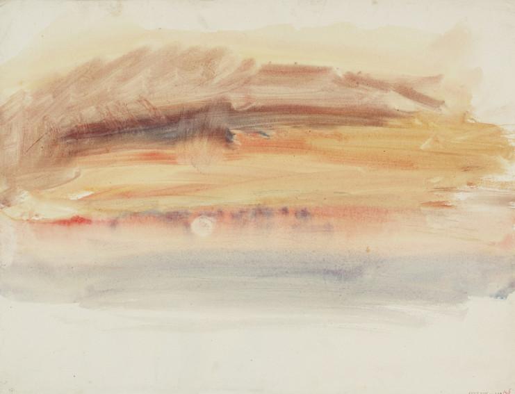 J. M. W. Turner Sunset painting