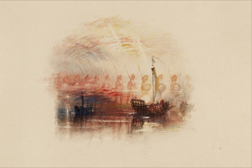 J. M. W. Turner The Vision of Columbus, from Samuel Rogers Poems painting