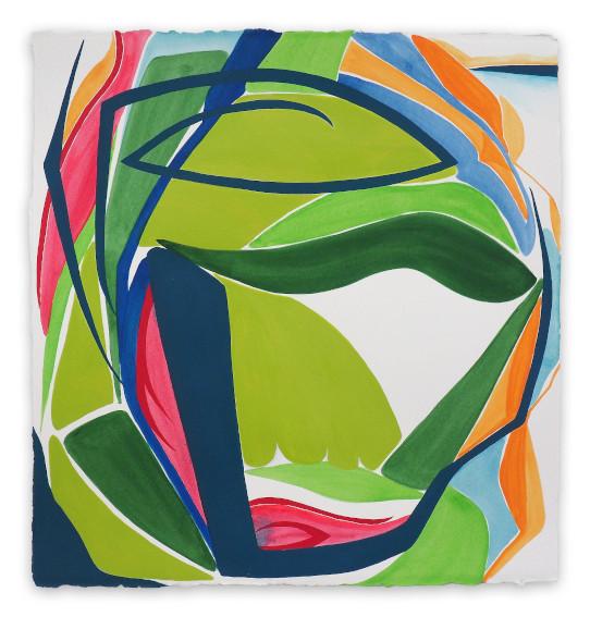 Framed green artwork for modern living room wall