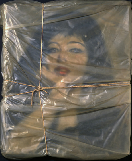 Christo Wrapped Portrait of Jeanne-Claude