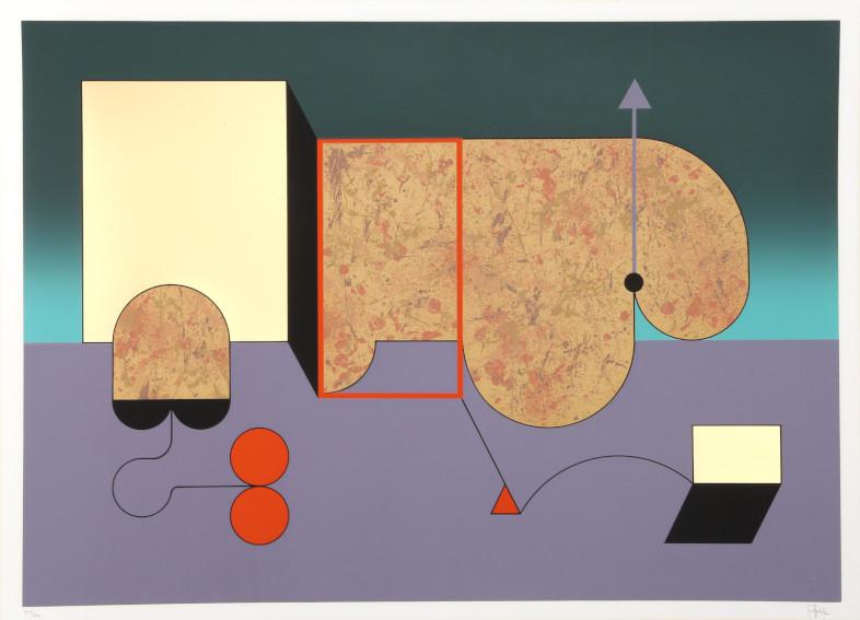 Manuel Felguarez Barra Untitled 2 silkscreen