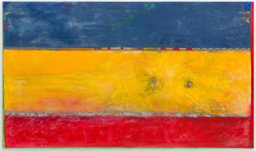 Frank Bowling Elder Sun Benjamin painting