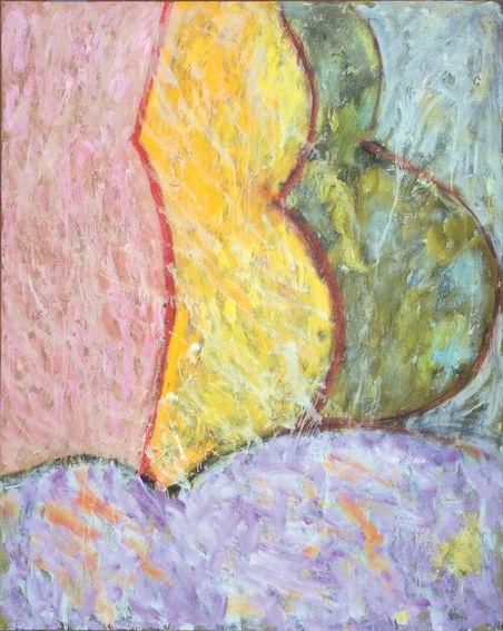 Pat Passlof Melon 2 painting