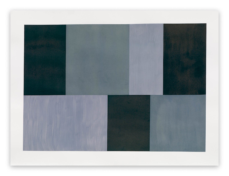 Tom McGlynn Test Pattern 12 Grey study painting