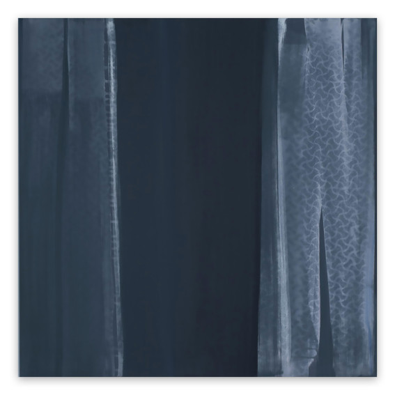 Marcy Rosenblat Gray Curtain Wall painting