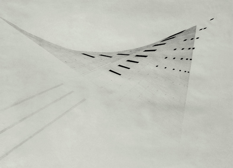 Nasreen Mohamedi Untitled 1975 painting