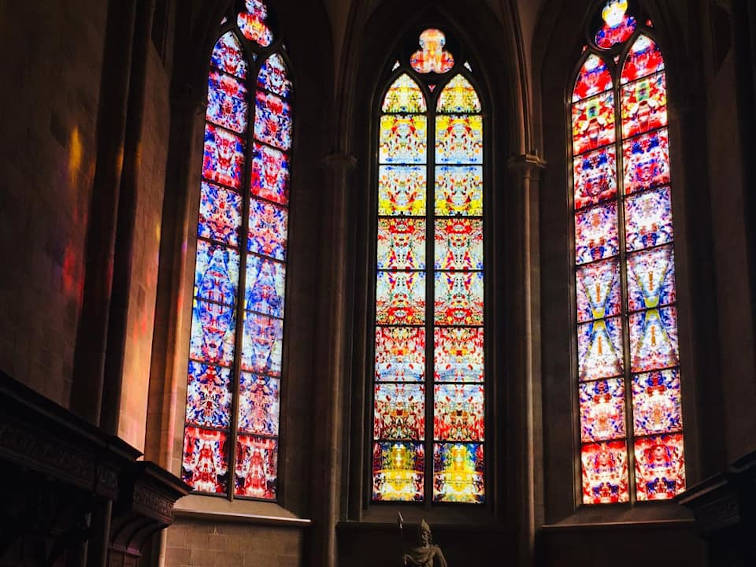 Gerhard Richter new stained glass windows in Tholey Abbey