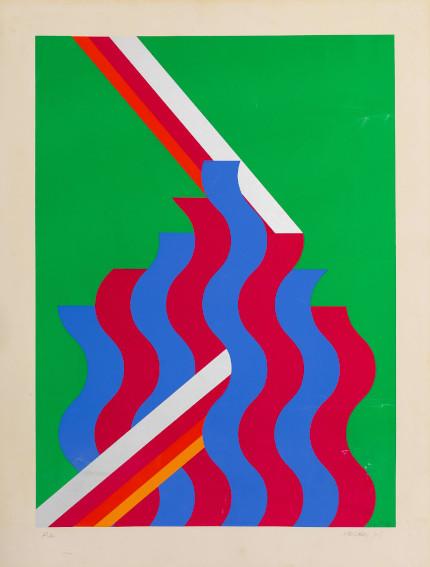 Mohamed Melehi Untitled 1975 silkscreen art
