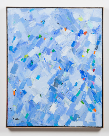 Painting works by Korean contemporary artist Young Il-Ahn Water on view in Los Angeles