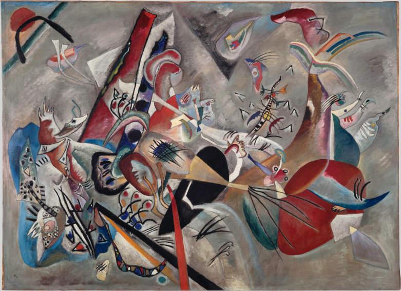 Vassily Kandinsky Im Grau painting
