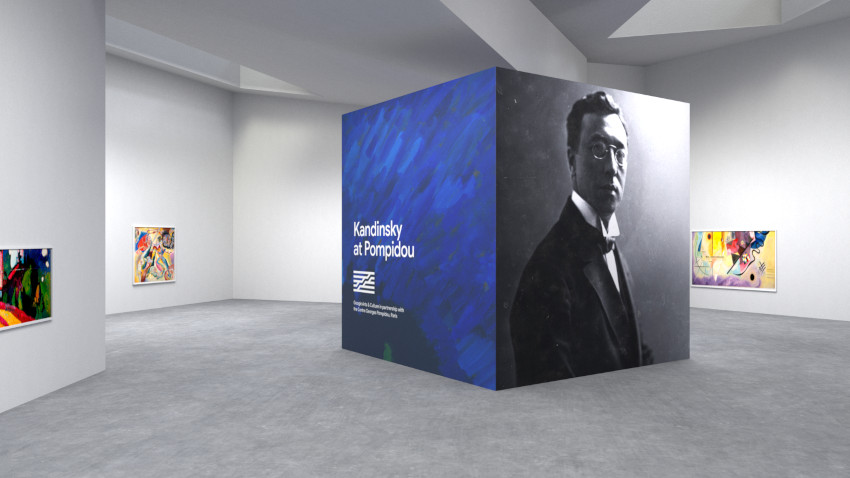 View of Pocket Gallery from the Sounds like Kandinsky project on Google Arts and Culture