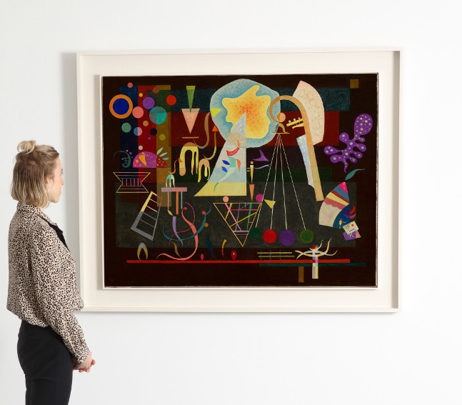 Wassily Kandinsky Tensions calmées painting from 1937