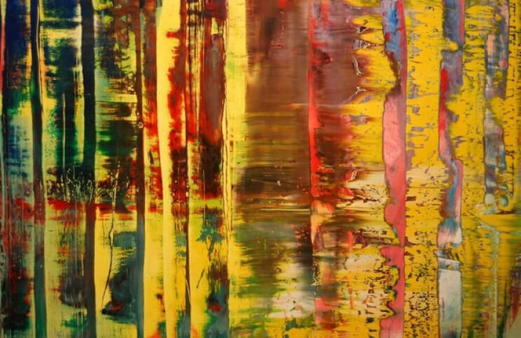 Observing Gerhard Richter's Abstract Painting | Ideelart